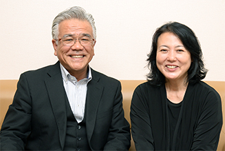 代表と杉田かおるさんとの対談